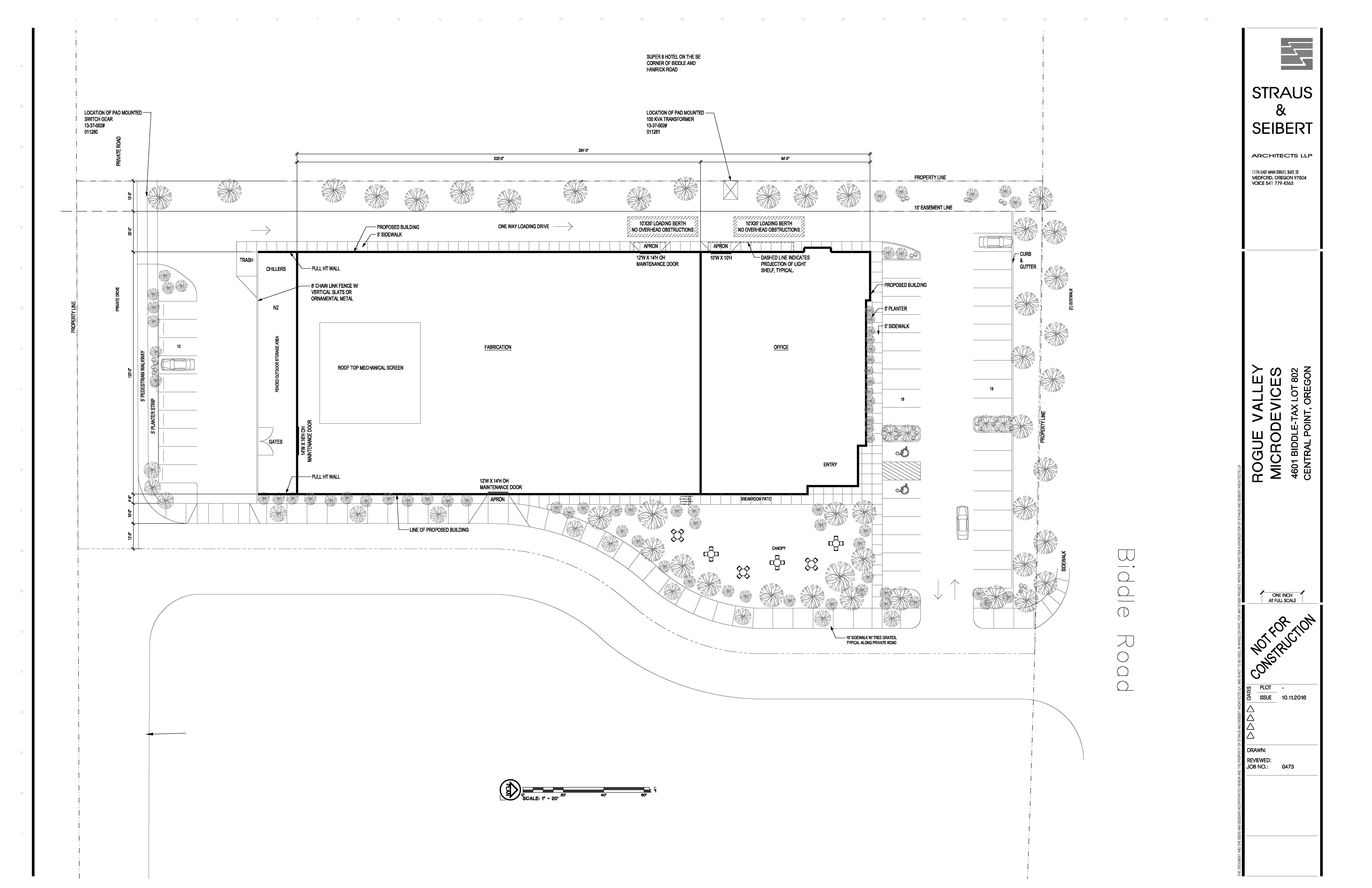 Rogue Valley Microdevices Site Plan Architectural Review – How To Draw Site Plan
