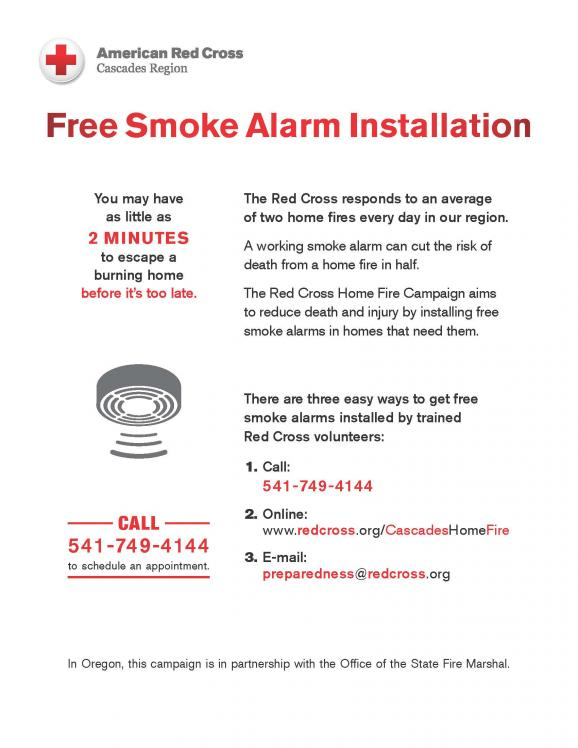 Red Cross is offering Free Smoke Alarms | Central Point Oregon