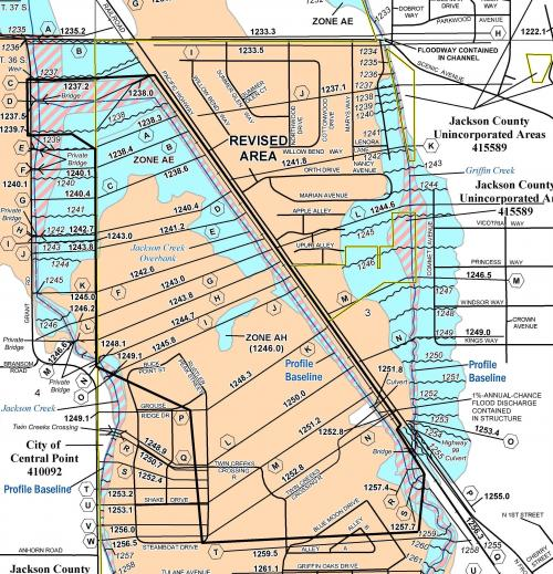 Central Point Oregon Map Twin Creeks Flood Zones Have Changed | Central Point Oregon